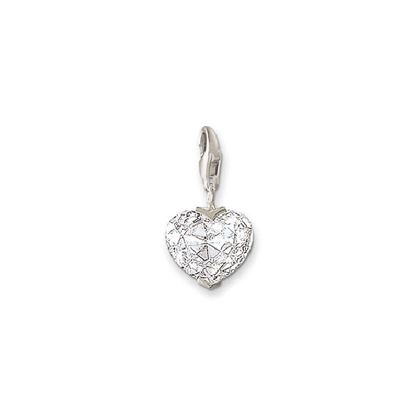 THOMAS SABO Charm Club Heart Crystal White