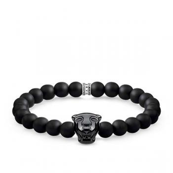 Thomas Sabo Black Cat Obsidian Bracelet 15.5cm
