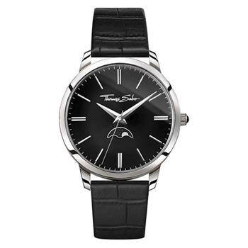 Thomas Sabo Classic Moonphase Black Leather Watch
