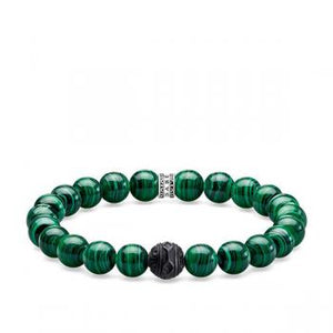Thomas Sabo Green Malachite Bracelet 17cm