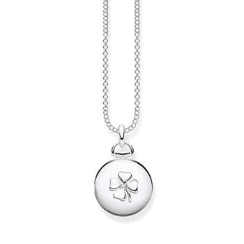 Thomas Sabo Medallion Clover Diamond Necklace 40-45cm