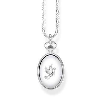 Thomas Sabo Medallion Dove Diamond Necklace 40-45cm