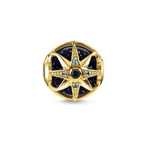 Thomas Sabo Onyx Star Gold Plated Karma Bead