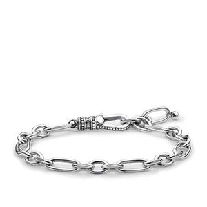 Thomas Sabo Oxidised Rebel Chain Link Bracelet 15-19.5cm