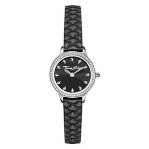 Thomas Sabo Pyramid Small Leather Black Dial Cubic Zirconia Watch