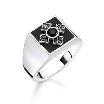 Thomas Sabo Rebel Cross Square Onyx Ring