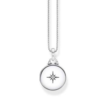 Thomas Sabo Silver Medallion Round Diamond Locket Necklace