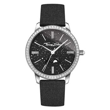 Thomas Sabo Star Moonphase Black Leather Watch
