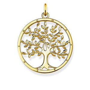 Thomas Sabo Tree Of Love Yellow Gold Plated Pendant