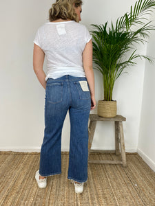 DL Hepburn Wide Leg High-Rise Jeans Barlowe