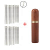 24pcs Self threading Needles Household Stainless Steel Embroidery Sewing Needle & Wooden Needle Case DIY Sewing Tools