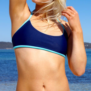 BLUE AND NAVY CROP *Reversible* WAS $60 NOW $40