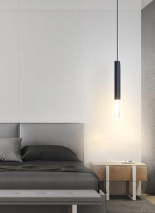 INSPIRA LIFESTYLES - Linear B&W Pendant - BEDROOM LIGHT, CHANDELIER, DINING LIGHT, HANGING LIGHT, LED, LIGHT FIXTURE, LIGHTING, LIGHTS, MINIMAL, MODERN, PENDANT, PENDANT LIGHT