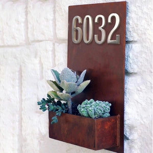 INSPIRA LIFESTYLES - Self-Adhesive House Number Satin Nickel - ADDRESS, DOOR NUMBER, HARDWARE, HOME & GARDEN, HOUSE NUMBER, SATIN NICKEL, SIGN