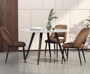 INSPIRA LIFESTYLES - Mid Century Plush Chair - CHAIR, CHAIRS, DESK CHAIR, DINING CHAIR, DINING ROOM, MINIMAL, MODERN, UPHOLSTERED