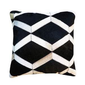 INSPIRA LIFESTYLES - Diamond Cowhide Pillow - ACCENT PILLOW, ACCESSORIES, CUSHION, DECORATIVE PILLOW, HOME DECOR, LEATHER, PILLOW, SOFTGOODS, THROW PILLOW