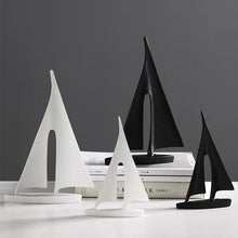 Load image into Gallery viewer, INSPIRA LIFESTYLES - Abstract Sailboat Sculpture - ACCESSORIES, ART, BLACK AND WHITE, DECOR, DECORATION, DECORATIVE, MODERN, SCULPTURE