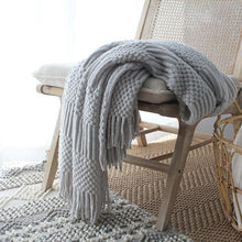 Load image into Gallery viewer, Textured Tassel Knit Throw