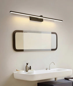 INSPIRA LIFESTYLES - Willis LED Vanity Light - BATHROOM LIGHT, BLACK, LED, LED LIGHT, LIGHT, LIGHT FIXTURE, LIGHTING, LINEAR LIGHT, MAKE UP LIGHT, MINIMAL, MODERN, SCONCE, VANITY LIGHT, WALL LAMP, WALL LIGHT, WHITE