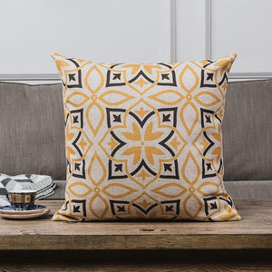 INSPIRA LIFESTYLES - Retro Linen Cotton Blend Pillow - ACCENT PILLOW, ACCESSORIES, BED PILLOW, CHAIR PILLOW, COTTON, DECORATIVE PILLOW, GEOMETRIC, HOME ACCESSORIES, LINEN, PILLOW, RETRO, SOFA PILLOW, SOFTGOODS, VINTAGE