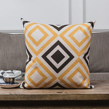 Load image into Gallery viewer, INSPIRA LIFESTYLES - Retro Linen Cotton Blend Pillow - ACCENT PILLOW, ACCESSORIES, BED PILLOW, CHAIR PILLOW, COTTON, DECORATIVE PILLOW, GEOMETRIC, HOME ACCESSORIES, LINEN, PILLOW, RETRO, SOFA PILLOW, SOFTGOODS, VINTAGE