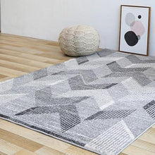 Load image into Gallery viewer, INSPIRA LIFESTYLES - Grey Chevrons Large Area Rug - AREA RUG, BEDROOM CARPET, CARPET, COMMERCIAL, DINING ROOM CARPET, FLOOR MAT, GEOMETRIC RUG, GRAY RUG, HOTEL CARPET, LIVING ROOM CARPET, MODERN RUG, MONOCHROME RUG, PILE CARPET, POLYESTER RUG, RECTANGLE AREA RUG, RUG, RUGS, WOVEN RUG