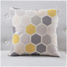 Load image into Gallery viewer, INSPIRA LIFESTYLES - Urban Linen Cotton Blend Pillow - ACCENT PILLOW, ACCESSORIES, BED PILLOW, CHAIR PILLOW, COTTON, DECORATIVE PILLOW, GEOMETRIC, GRID, HOME ACCESSORIES, HONEYCOMB, LINEN, PILLOW, SOFA PILLOW, SOFTGOODS, STRIPES