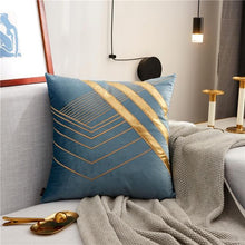 Load image into Gallery viewer, INSPIRA LIFESTYLES - Velvet Embroidered Chevron Pillow I - ACCENT PILLOW, ACCESSORIES, BED PILLOW, CHAIR PILLOW, CHEVRON, DECORATIVE PILLOW, EMBROIDERED, GEOMETRIC, HOME ACCESSORIES, LUXURY, LUXURY PILLOW, PILLOW, SOFA PILLOW, SOFTGOODS, VELVET