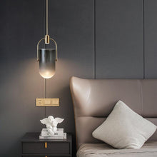 Load image into Gallery viewer, INSPIRA LIFESTYLES - Celine Glass Pendant - HANGING LIGHT, LED, LIGHT FIXTURE, LIGHTING, MODERN PENDANT, PENDANT LIGHT
