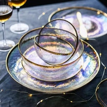 Load image into Gallery viewer, INSPIRA LIFESTYLES - Rainbow Glass Dinnerware - BOWL, BOWLS, FRUIT BOWL, GLASS, PATES, PLATES, TABLEWARE