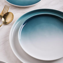 Load image into Gallery viewer, INSPIRA LIFESTYLES - Ombre Gradient Plates - BLUE PLATE, DINNERWARE, GRADIENT, GUEST PLATE, MODERN DINING, MODERN PLATE, OMBRE, OMBRE PLATE, PLATE, PLATES, SERVING DISH, SERVING PLATE, SERVING WARE, SERVINGWARE, TABLEWARE