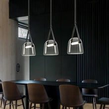 Load image into Gallery viewer, INSPIRA LIFESTYLES - Silas Belted LED Glass Pendant - CHANDELIER, DINING LIGHT, HANGING LIGHT, LIGHT, LIGHT FIXTURE, LIGHTING, LIVING ROOM LIGHT, PENDANT, PENDANT LIGHT