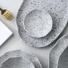 Load image into Gallery viewer, INSPIRA LIFESTYLES - Granite Texture Tableware - ABSTRACT, CERAMIC, DINNERWARE, DISH, DISHES, GRANITE, GRAY, GREY, JAPANESE, MINIMALIST, MODERN, PLATE, PLATES, PORCELAIN, SERVING PLATTER, STONE, STONEWARE, TABLEWARE