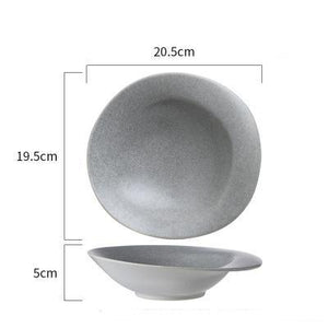 INSPIRA LIFESTYLES - Gray Stone Dinnerware - BOWL, DESSERT PLATE, DISPLAY PLATE, FRUIT BOWL, PLATE, PLATES, SERVING PLATE, TABLEWARE, TABLEWARE PLATES