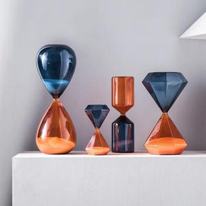 INSPIRA LIFESTYLES - Two Tone Hourglass - ACCESSORIES, DECOR, DECORATION, HOURGLASS, SAND TIMER