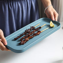 Load image into Gallery viewer, INSPIRA LIFESTYLES - Rectangular Plate - APPETIZER PLATE, CERAMIC, DESSERT PLATE, DINNER PLATE, PLATE, PLATES, PLATTER, PORCELAIN, RECTANGULAR PLATE, SALAD PLATE, SERVING DISH, SERVING WARE, TABLEWARE, TRAY