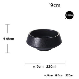 INSPIRA LIFESTYLES - Inverted Black Matte Bowls - BOWLS, DINING, KITCHEN, PLATE, PLATES, PLATTERS, SERVING PLATE, TABLE TOP, TABLEWARE