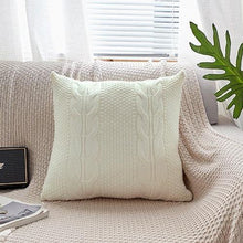 Load image into Gallery viewer, Cable Knit Cotton Pillow