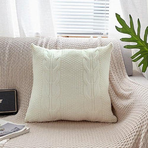 Cable Knit Cotton Pillow