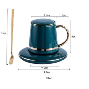 INSPIRA LIFESTYLES - Enchant Mug Saucer Set - COFFEE, CUP, GIFT, KITCHEN, MUG, TABLEWARE, TEA CUP