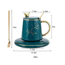 Load image into Gallery viewer, INSPIRA LIFESTYLES - Enchant Mug Saucer Set - COFFEE, CUP, GIFT, KITCHEN, MUG, TABLEWARE, TEA CUP