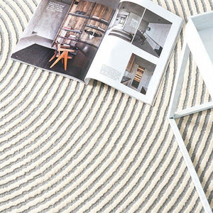 Concentric Rings Large Area Rug