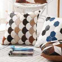 Load image into Gallery viewer, INSPIRA LIFESTYLES - Scales Cowhide Pillow - ACCENT PILLOW, ACCESSORIES, CUSHION, DECORATIVE PILLOW, HOME DECOR, LEATHER, PILLOW, SOFTGOODS, THROW PILLOW