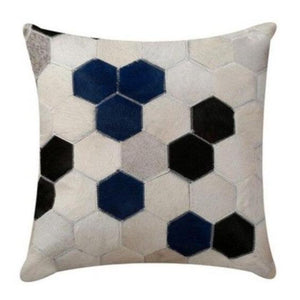 INSPIRA LIFESTYLES - Hexagon Cowhide Pillow - ACCENT PILLOW, ACCESSORIES, CUSHION, DECORATIVE PILLOW, HOME DECOR, LEATHER, PILLOW, SOFTGOODS, THROW PILLOW