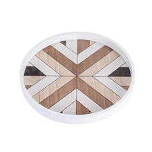 Load image into Gallery viewer, INSPIRA LIFESTYLES - Geometric Wooden Tray - DECOR, DISH, GEOMETRIC, KITCHEN, PLATE, SERVING PLATE, SERVING TRAY, TABLEWARE, TRAY, WOOD