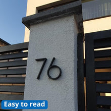 Load image into Gallery viewer, INSPIRA LIFESTYLES - Modern House Number Black - ADDRESS, BLACK, DOOR NUMBER, HARDWARE, HOME & GARDEN, HOUSE NUMBER, SIGN, ZINC ALLOY