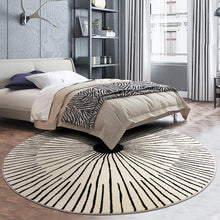 Load image into Gallery viewer, INSPIRA LIFESTYLES - Radial Scandinavian Round Area Rug - ACCENT RUG, AREA RUG, BEDROOM CARPET, CARPET, COMMERCIAL, DINING ROOM CARPET, FLOOR MAT, HOTEL CARPET, LIVING ROOM CARPET, OFFICE CARPET, PILE CARPET, RADIAL, RUG, SCANDINAVIAN, WOVEN RUG