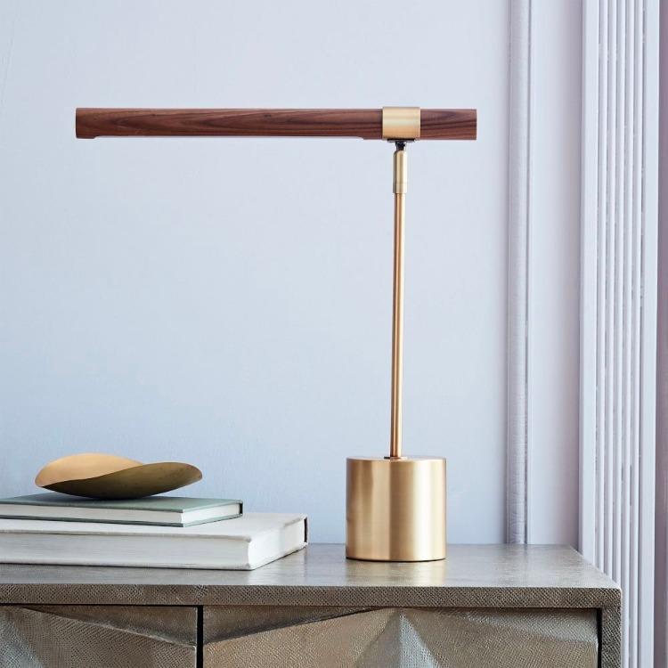 INSPIRA LIFESTYLES - Postaro Table Lamp - BEDSIDE LAMP, DESK LAMP, LED, LED LAMP, LED LIGHT, LIGHT FIXTURE, LIGHTING, OFFICE, TABLE LAMP, WOOD LAMP