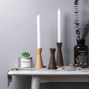 INSPIRA LIFESTYLES - Modern Wood Candle Holders - ACCESSORIES, CANDLE HOLDER, DECOR, DECORATION, WOOD