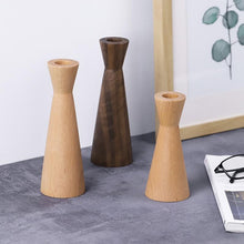 Load image into Gallery viewer, INSPIRA LIFESTYLES - Modern Wood Candle Holders - ACCESSORIES, CANDLE HOLDER, DECOR, DECORATION, WOOD